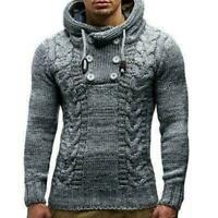 Mens Winter Sweater Warm Sweatshirt Coat Jacket Knitted Outwear Hoodies To O2N9