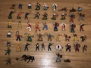 Job Lot Of Britains Cowboys And Indians Horse  Plastic Vintage 70s
