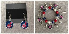 Cleveland Indians Earring And Bracelet Set