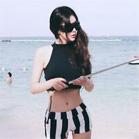Women 2017 Fashion Korean Style Padded Top+Shorts Swimsuit Sets Beach Clothing