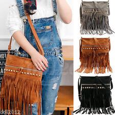Women Fashion Tassel Handbag Shoulder Bags Large Tote Meassenger Boho Purse Bag