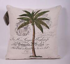 Decorative Throw Pillow Pair Williamsburg Barbados Tropical Palm Tree-Last Pair!