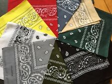 1 PCS Paisley Bandana Face Mask Head Wrap Scarf 100% Cotton Mouth Cover