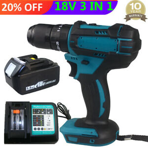 For Makita DHP483Z LXT Brushless Combi Drill Driver with 5.5Ah Battery + Charger