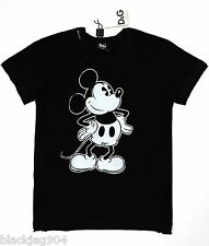 DOLCE & GABBANA JUNIOR SIZE 6 CHILDREN'S MICKEY MOUSE GRAPHIC PRINTED COTTON TEE