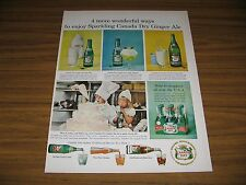 1958 Print Ad Canada Dry Ginger Ale 4 Ways to Enjoy Kids Decorate Cake