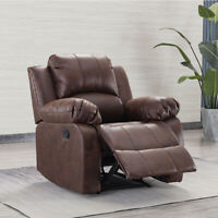 Recliner Chair Manual Single Couch Overstuffed Heavy Duty Sofa  Lounge Furniture