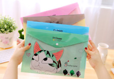 4 x A4 folders files Cat Kitten stationery Kids Party School Office Mint Cute