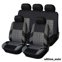 FULL SET GREY FABRIC CAR SEAT COVERS FOR RENAULT CLIO MEGANE MPV LAGUNA SCENIC