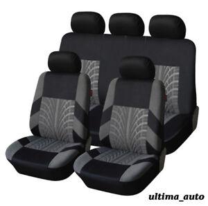 Set Complet Tissu Gris Voiture Housses de Siège Pour Renault Clio Megane MPV