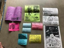 Lot of 1990s Music, Concert & Band Flyers from Wichita Falls, TX area