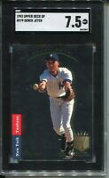 1993 SP Foil Baseball 279 Derek Jeter Rookie Card RC Graded SGC Nr MINT 7.5 93
