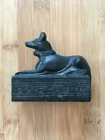 Vintage Egyptian 1970's Anubis Soapstone Figurine (damaged right ear)  $19.99