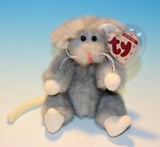 1993 TY COLLECTIBLES,  Attic Treasures SQUEAKY  Mouse with tags, jointed, Tags