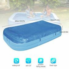 Pool Cover Dustproof Rectangle Thickened Poncho Cover Cloth For Inflatable Pool