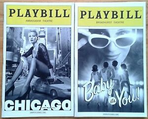 Selection of individual Broadway Playbill programmes 2000s, New York programme