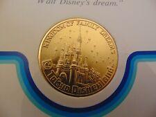 VINTAGE Cast Member 1983 Grand Opening Tokyo Disneyland Medallion w/ Letter