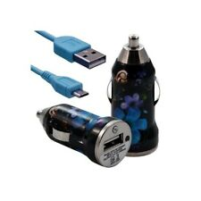 Lighter car charger with usb data cable hf16 for nokia asha 200/: