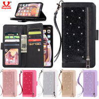 For iPhone Xs Max Phone Case Luxury Leather Magnetic Flip Wallet Stand Cover