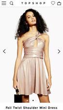 Topshop Foil Twist Shoulder Mini Dress UK12
