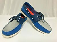 SWIMS Loafer Blue Gray Men Sz 9 Active Casual Boat Water Slip On Lace Up EUC