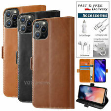 Leather Wallet Magnetic Cover Card Case For iPhone 11 / 11 Pro Max + Accessories