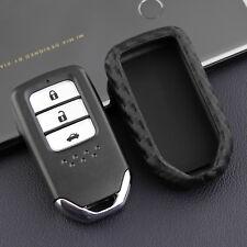 Carbon Fiber Look Car Key Case Accessories For Honda Accord CR-V HR-V Civic 1PCS