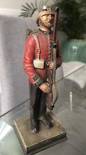 More details for vintage antique military soldier table lighter 19 cm tall - no helmet/hat
