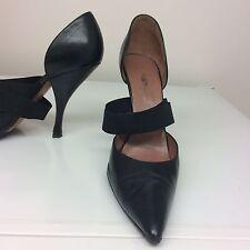 Azzedine Alaia Mid Strap Stylish Black Shoes Size 37.5 rrp £475