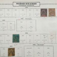 4 Timbres DIEGO SUAREZ 1892 1894 Colonie Française