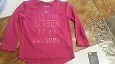 Girls NWT size 18 months Under Armour pink t-shirt top