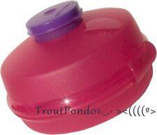 Tupperware Bagel Keeper Round Sandwich Box Storage Container Pink + Purple New