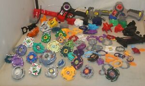 Beyblades METAL & Plastic Launchers Rip Cords Spare Parts Pieces TOPS Mixed Lot