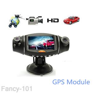 "R310 Full HD Dual Lens Car DVR Camera Dash Cam Video Recorder Night Vision 2.7"""