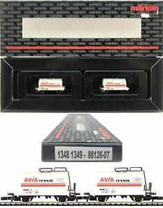 Marklin Z Scale 88126-07  M/M 1348 & 1349  2 Car Avia Tessol Set Original Box C9