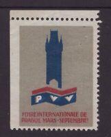Czechoslovakia old cinderella stamp