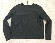 LULULEMON Black floral running athletics yoga pullover sweater ladies size 12