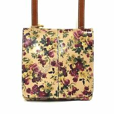 PATRICIA NASH Granada Crossbody FLORAL Antique Rose PURSE Spring LEATHER NWT
