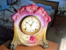 VINTAGE ANSONIA LACETTE MANTLE CLOCK WITH PAPERWORK - WORKS