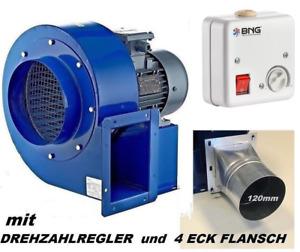 TURBO Zentrifugal Radialgebläse Radialventilator Radiallüfter 1950m³/h 230V