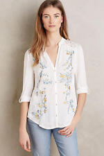 NWT Anthropologie Embroidered Kalei Buttondown, by TINY - size XS