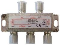 Répartiteur TV/SAT pour Connecter Jusqu'à 4 Décodeurs Terrestres ou Satellites