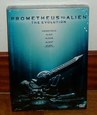 PROMETHEUS TO ALIEN THE EVOLUTION-PACK 5 DVD-NUEVO-PRECINTADO-CIENCIA FICCION