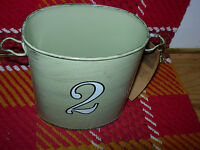 """""""JUNK MARKET--#2"""" OVAL METAL CONTAINER--15"""" AROUND X 5"""" HIGH--#B63"""