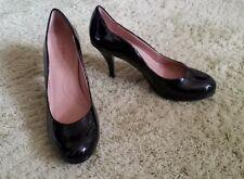 Tahari Women's High Heels 7 Black Patent Leather Collette Pumps Round Toe