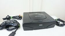 Sega Saturn Black Console System Bundle / Controller / Cables / Tested /
