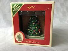 New listing Spode Ceramic Christmas Tree Coaster Holder w/ 4 Coasters Nib