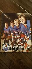 1975-76 Jets Oilers Wha Program Cover Signed Lars Erik Sjoberg Hedberg Nilsson