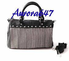 NEW Steve Madden Chain Metal Fringe Satchel Handbag Purse Messenger Shoulder Bag