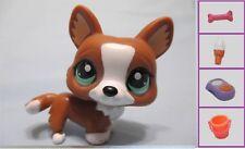 LITTLEST PET SHOP DOG WELSH CORGI CHOCOLATE BROWN #2150+1 FREE Access Authen